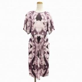 【中古】未使用品 ヴィヴィアンタム VIVIENNE TAM ワンピース ドレス ロング 半袖 0 ピンク MTO レディース