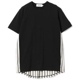 【40%OFF】 ビームス メン ALOYE × BEAMS / 別注 Shirt Fabric T shirt メンズ BLACK-KAMEDAJIMAST S 【BEAMS MEN】 【セール開催中】