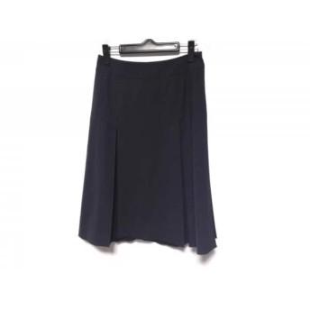 【中古】 フォクシーニューヨーク スカート サイズ40 M レディース ダークネイビー プリーツ