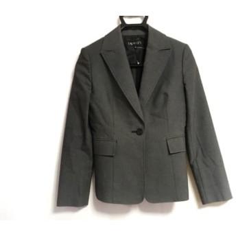 【中古】 インディビ INDIVI ジャケット サイズ36 S レディース 黒 白