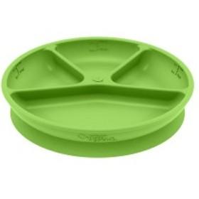green sprouts(グリーンスプラウツ) ラーニングプレート シリコン ベビー食器 吸盤 離乳食 Learning pl