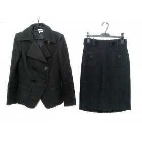 【中古】 パオラ フラーニ PAOLA FRANI スカートスーツ レディース 黒 ニット/冬物
