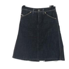 【中古】 ディーゼル DIESEL スカート サイズ27 M レディース 黒 デニム