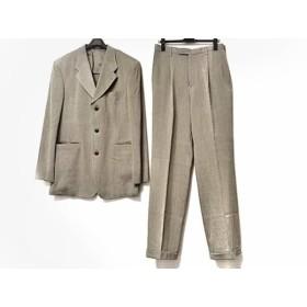 【中古】 ムッシュニコル monsieur NICOLE シングルスーツ サイズ52 メンズ カーキ