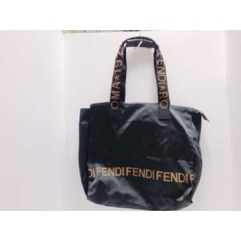 【中古】 フェンディ FENDI ハンドバッグ - - 黒 ブラウン ナイロン レザー