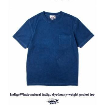 メンズ 藍染め Tシャツ tee