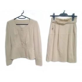 【中古】 ナチュラルビューティー NATURAL BEAUTY スカートスーツ サイズ36 S レディース ベージュ