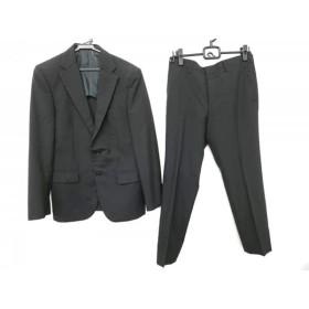 【中古】 コムサイズム COMME CA ISM シングルスーツ サイズS メンズ 黒