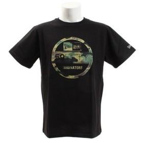 ニューエラ(NEW ERA) コットン Tシャツ ウッドランドカモ バイザーステッカー 11556777 (Men's)