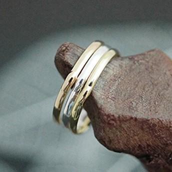 ピンキーリング 指輪 小指 中央に膨らみをつけたさりげないシンプルデザイン レディース 3号 5号 シルバー ゴールド ピンクゴールド