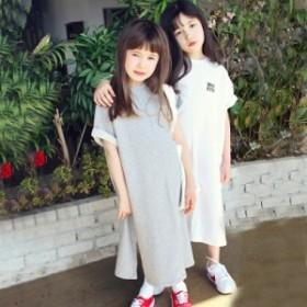 子供服 女の子 ガールズ セータードレス 長いセクション カジュアル ゆったり おしゃれ ワンピース 春
