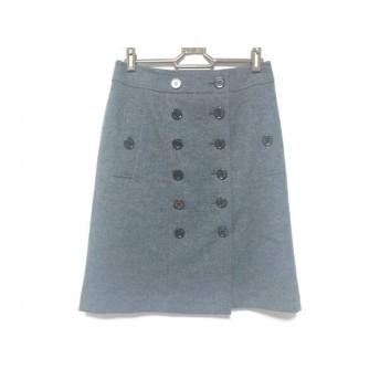 【中古】 バーバリーロンドン Burberry LONDON 巻きスカート サイズ36 M レディース 美品 ダークグレー