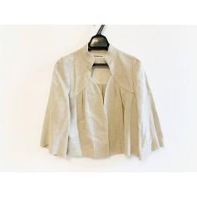 【中古】 ヴィヴィアンタム VIVIENNE TAM ジャケット サイズ0 XS レディース 美品 ベージュ ラメ