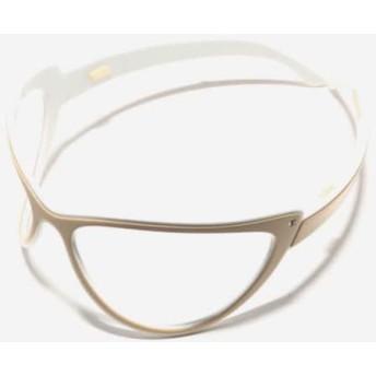 【中古】 アレクサンドル ドゥ パリ カチューシャ 美品 プラスチック ベージュ 白 メガネ/ラインストーン