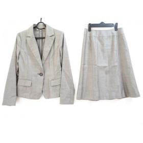 【中古】 ナチュラルビューティー ベーシック NATURAL BEAUTY BASIC スカートスーツ レディース グレー