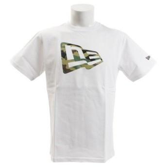ニューエラ(NEW ERA) 【オンライン特価】 コットン Tシャツ ウッドランドカモ フラッグロゴ 11901372 (Men's)