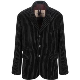 《期間限定セール開催中!》ZIGGY CHEN メンズ テーラードジャケット ブラック 46 コットン 55% / 麻 45%