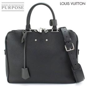 未使用 展示品 ルイ ヴィトン LOUIS VUITTON アルマンド ブリーフケース MM ビジネス バッグ トリヨンレザー ノワール M54381
