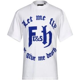 《期間限定 セール開催中》FRANKLIN & MARSHALL メンズ T シャツ ホワイト L コットン 100%