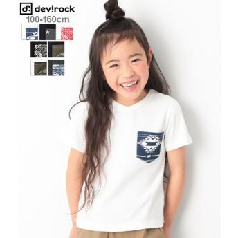 devirock デビロック 柄ポケット Tシャツ Vネック