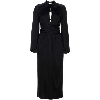 《セール開催中》VERSACE COLLECTION レディース ロングワンピース&ドレス ブラック 38 100% レーヨン