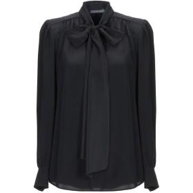 《セール開催中》ALBERTA FERRETTI レディース シャツ ブラック 42 シルク 100% / アセテート / ポリウレタン
