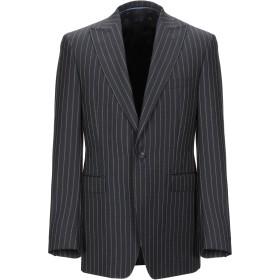 《期間限定セール開催中!》VERSACE COLLECTION メンズ テーラードジャケット ブラック 50 スーパー100 ウール 100%