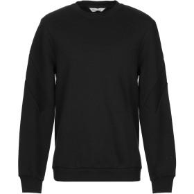 《期間限定セール開催中!》ELEVEN PARIS メンズ スウェットシャツ ブラック S コットン 80% / ポリエステル 20%
