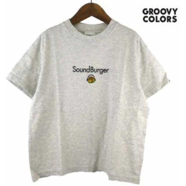 GROOVY COLORS(グルービーカラーズ) テンジク SOUND BURGER BIG TEE  (90-140) 半袖Tシャツ