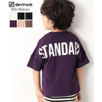 devirock デビロック バックロゴプリント 半袖 Tシャツ