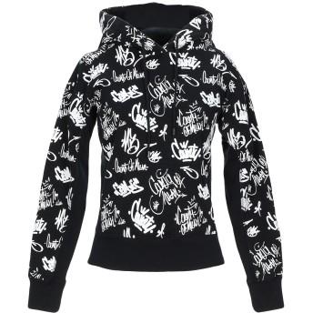 《セール開催中》MARCELO BURLON レディース スウェットシャツ ブラック S コットン 100%