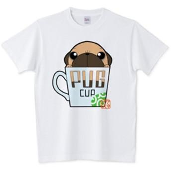 色・サイズ豊富 パグカップ(フォーン)5.6オンスTシャツ(ぱぐ グッズ)