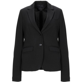 《期間限定 セール開催中》HAPPY25 レディース テーラードジャケット ブラック 42 ポリエステル 82% / レーヨン 15% / ポリウレタン 3%