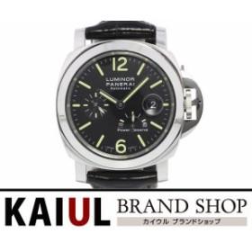 2d365c5dcb パネライ ルミノール パワーリザーブ 44mm PAM00090 O番 SS レザー ブラック 自動巻き メンズ 腕時計 A