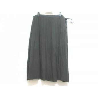 【中古】 アンテプリマ ANTEPRIMA スカート サイズ42(IT) レディース 黒 シルク/プリーツ