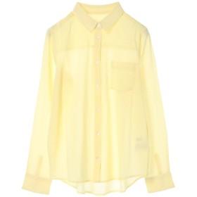 【オンワード】 Green Parks(グリーンパークス) nougatine ボイル長袖レギュラーシャツ Yellow M レディース 【送料無料】