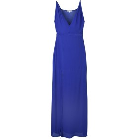 《セール開催中》KORALLINE レディース ロングワンピース&ドレス ブルー S レーヨン 100% / ポリエステル / ポリウレタン