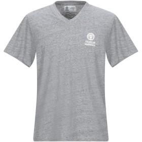 《期間限定 セール開催中》FRANKLIN & MARSHALL メンズ T シャツ グレー L コットン 100%