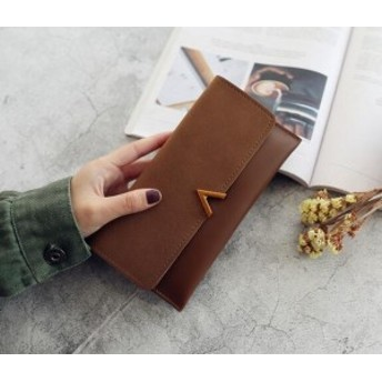 2019新しい多機能シンプルな財布女性のV字型装飾ロングバックル財布母の日ギフト
