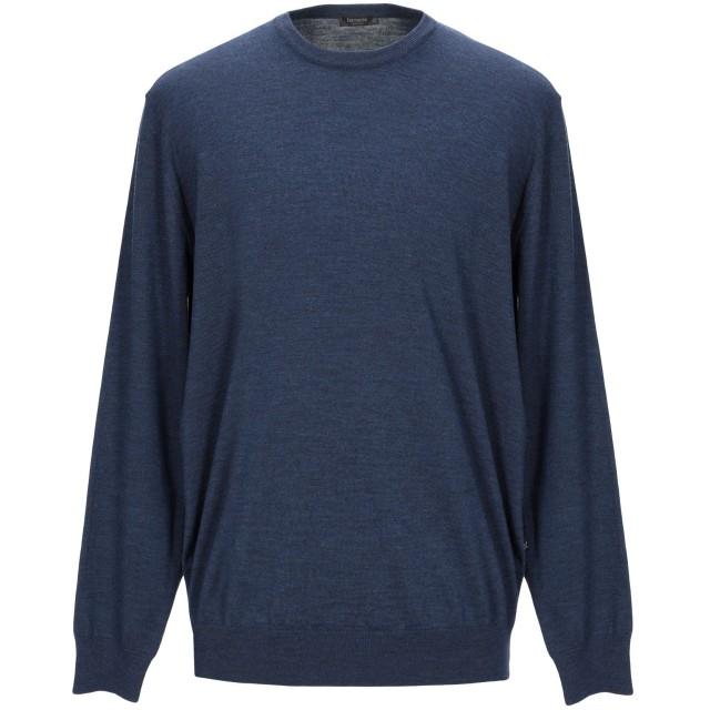 《セール開催中》FERRANTE メンズ プルオーバー ブルー 56 ウール 100%