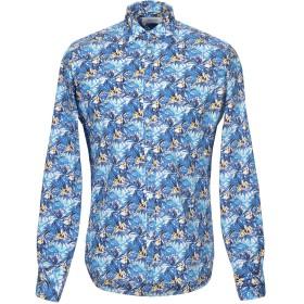 《期間限定セール開催中!》AGLINI メンズ シャツ ブルー 39 コットン 97% / ポリウレタン 3%