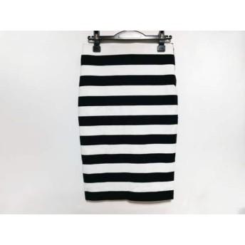 【中古】 ミューズデドゥーズィエムクラス スカート サイズ36 S レディース 白 黒 ボーダー