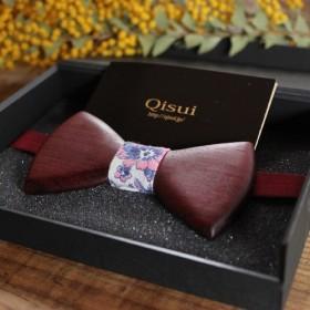木製蝶ネクタイ 素材:パープルハート