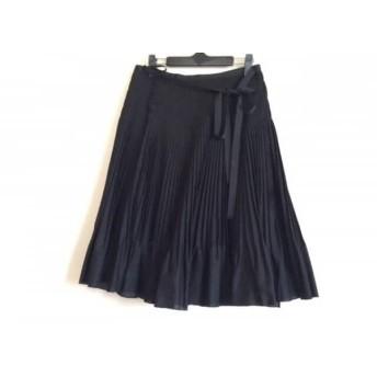 【中古】 ダーマコレクション DAMAcollection 巻きスカート サイズ1 S レディース 黒 プリーツ