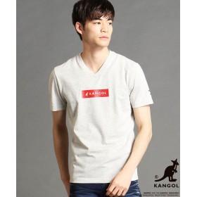 ニコルクラブフォーメン KANGOLコラボVネックTシャツ メンズ 29グレー 44(S) 【NICOLE CLUB FOR MEN】