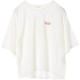 【オンワード】 Green Parks(グリーンパークス) 胸元ロゴワイドTシャツ Off White F レディース 【送料無料】