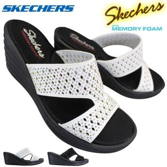 スケッチャーズ skechers 31778 SKECHERS Rumbler Wave - Ibiza Summer 各色 レディース スライドサンダル ウエッジソール 厚底 ミュール シューズ 靴
