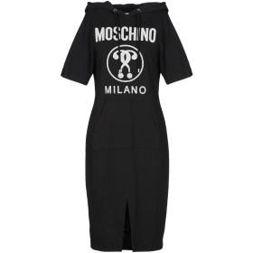 《期間限定 セール開催中》MOSCHINO レディース ひざ丈ワンピース ブラック 38 コットン 97% / 指定外繊維 3%