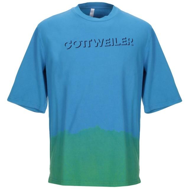 《期間限定 セール開催中》COTTWEILER メンズ T シャツ アジュールブルー L コットン 100%