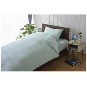 生毛工房(うもうこうぼう) 綿マイヤーワンタッチシーツ セミダブルサイズ(125×215cm/ブルー) UM-K32-FSD BL(125